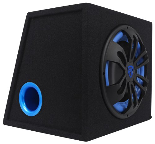 (Rockville RVB12.1A 12 Inch 500W Active Powered Car Subwoofer+Sub Enclosure Box)
