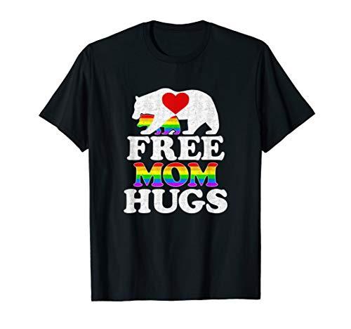 (Free Mom Hugs Tshirt T-shirt Women LGBT Pride Mama)