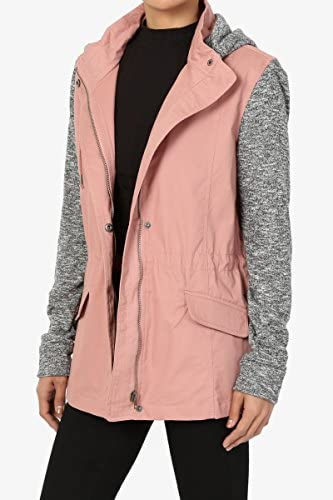 TheMogan Women's Faux Fur Hooded Military Quilted Lined Oversized Parka Anorak