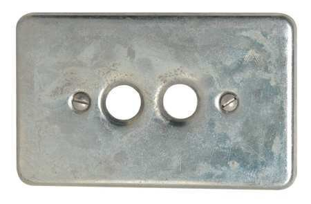Appleton FSK-1PB Cover for Double Push Button/Momentary Contact/Maintain Switches, 1 Gang, Steel