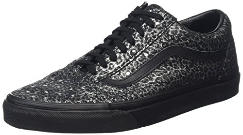 Vans Womens Old Skool Cup (Luxe Tweed) Fabric Low Top Lace up, Black, Size 6.0 by Vans