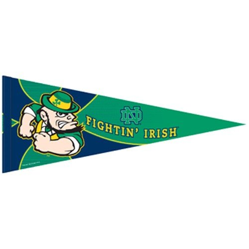 Fighting Irish Green Jersey - NCAA Notre Dame Fighting Irish Green 12'' x 30'' Premium Felt Pennant