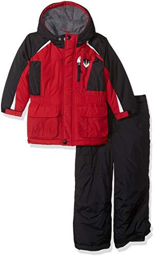 London Fog Boys' Little' Ski Jacket & Ski Pant 2-Piece Snowsuit, Real red, 5/6