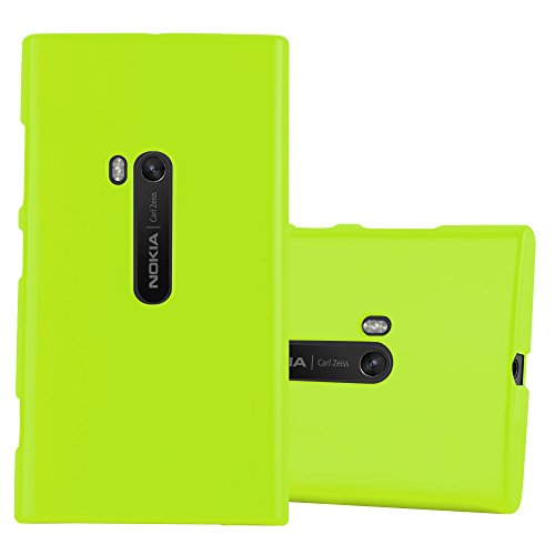 Cadorabo Case Works with Nokia Lumia 920 in Jelly Green - Shockproof and Scratch Resistant TPU Silicone Cover - Ultra Slim Protective Gel Shell Bumper Back Skin (920 Jelly)