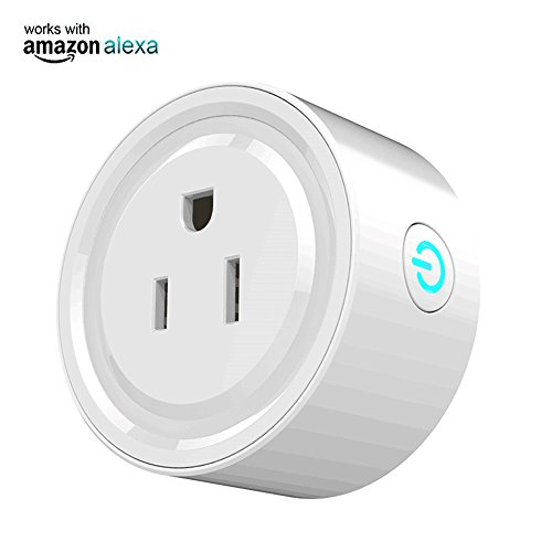 Mini Wi-Fi Smart Plug Outlet Compatible with Alexa, no Hub Required, Remote Control Smart Socket Wireless Timing Function