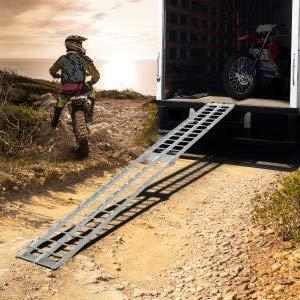 Rails d/'Acc/ès Remorques Rampe en Aluminium 1 Voitures Jago Rampe de Chargement pour Tous Les Motos Lot de 1 ou 2 Pi/èces 340 kg par Rampe Antid/érapante Charge Max Pliable Quads