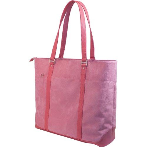 Komen Faux Suede Laptop Tote by Mobile (Komen Laptop Bag)