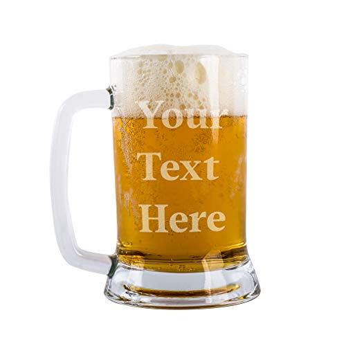 - Your Text Here Beer Mug Personalized Beer Glass Pint Customizable With Your Text 12 Different Font Option Personalized Beer Gifts