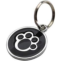 liuqingwind Pet Leash,Anti-Lost Puppy Dog Cat Collar ID Tags Pendant Mini Claw Print Pet Supplies - Black