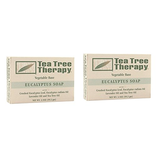 Tea Tree Therapy Eucalyptus Soap Vegetable Base, 3.5 Ounce (2-Pack)