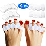 Toe Separators Straighteners & Spacers, Women Men Pedicure Bunion Corrector Relief on Hammor Toe, Great For Medical Fitness and Wellness Use, Shoe Stretcher House
