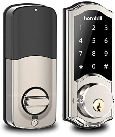 [2020 Newest] Smart Deadbolt Lock Front Door, Keyless Entry Door Lock with Keypads, Bluetooth Smart Locks Work with Alexa, Digital Code Lock for Airbnb and Vacation Rental Hosts