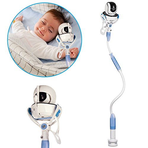 Universal Baby Monitor Mount By Kruger: 2-In-1 Flexible Nursery Camera Stand & Lazy Phone Holder Clip For Bed, Desk, Office, Kitchen – 95cm Adjustable Long Arm Mount – Fits Most Infant Video Monitors