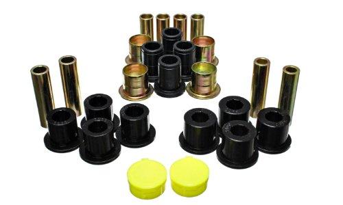 Polyurethane Dodge Front Bushings - Energy Suspension 5.3139G Control Arm Bushing Set; Black; Front; Performance Polyurethane;