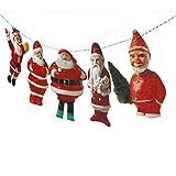 Vintage Christmas Santa Claus Garland - gorgeous handmade photographic reproductions