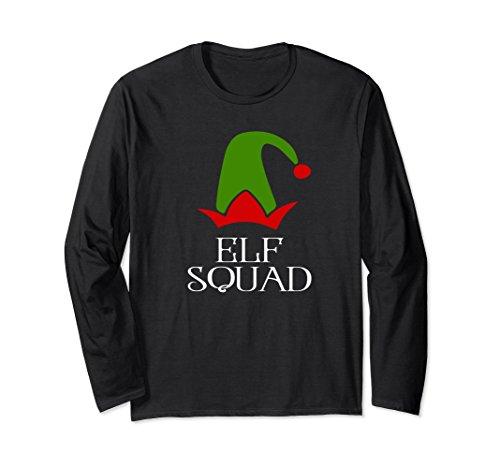 Unisex Elf Squad Christmas Season Long Sleeve Tee Shirt Gift XL: Black from Elf Family Christmas Shirts KDL