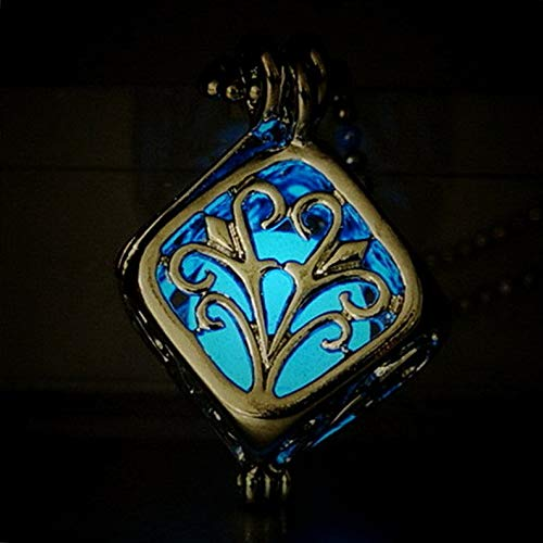 Hebel Fashion Glow in The Dark Hollow Cube Tree of Life Pendant Necklace Jewelry Gift | Model NCKLCS - 36718 |