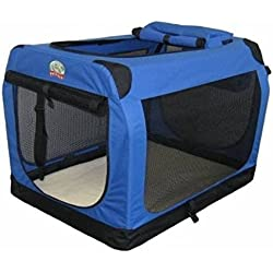 Go Pet Club Soft Crate for Pets, 20-Inch, Blue AC20 Pet Crate NEW