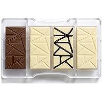 DECORA Stampo Cioccolatino Tavoletta, Policarbonato, Trasparente, 200 x 120 x 22 mm