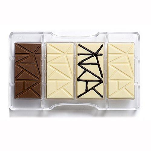 Transparente Decora Tableta de Chocolate del Molde 200 x 120 x 22 mm de policarbonato