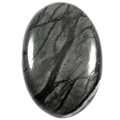 Gems&Jewels 44.40 cts Beautiful Untreated 100% Natural Picasso Jasper Cabochon Oval Gemstone