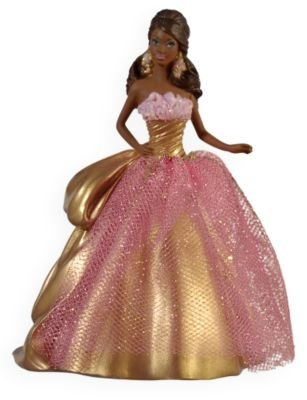 QXI1352 Celebration Barbie Special 2009 Hallmark Ornament Edition inspired by Holiday Barbie Doll African (2009 Holiday Barbie Doll)