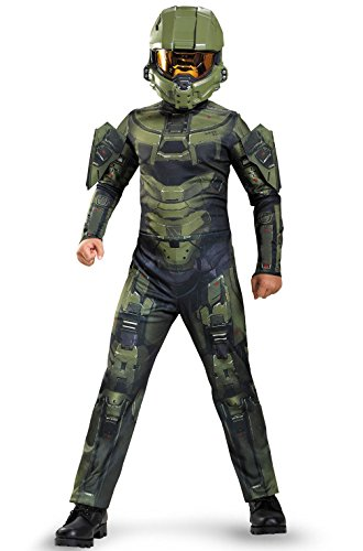 [Mememall Fashion Halo's Master Chief Classic Child Costume] (Deluxe Plush Cow Mascot Costumes)