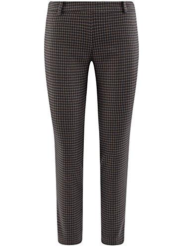 Zip Donna Laterale Pantaloni Beige oodji con 7937c Ultra Stretti 4F7qaw