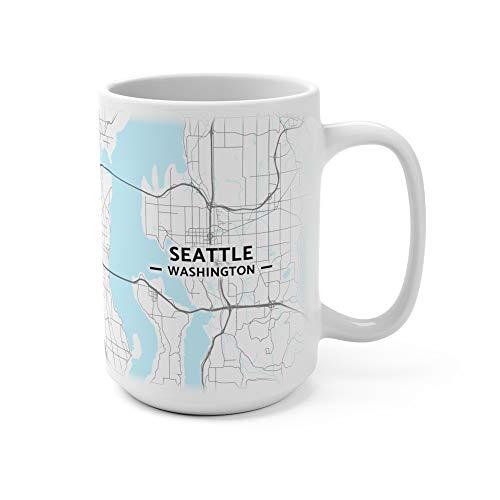 Seattle, Washington Map Mug (15 oz)