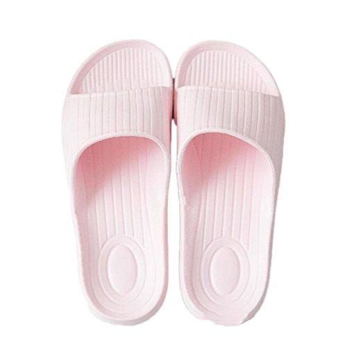 Spa Sandales pink Douche dérapant Doux de hommes Pool Tongs et salle Mule de pour Accueil Plage Chaussures Slip Pantoufles bains on femmes anti Slide light 4qxSTaZwO