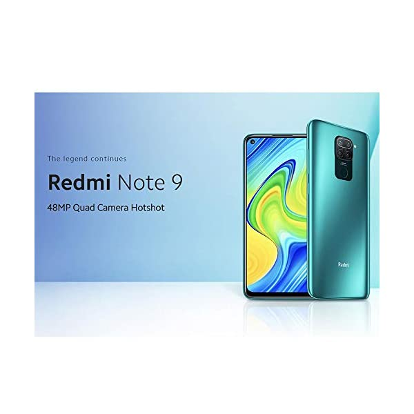 """Xiaomi Redmi Note 9 Smartphone 3GB 64GB Hotshot de cámara cuádruple de 48MP 6.53"""" FHD+ DotDisplay 5020 mAh 3.5mm…"""
