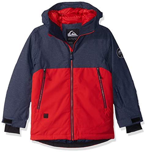 - Quiksilver Boys' Big Sierra Youth 10K Snow Jacket, Dress Blues, 12/L