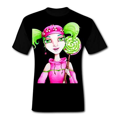 Kim mittelstaedt Mens Zoey Watercolor & Pencil Tshirt Short Sleeve Tee Shirts XL ()