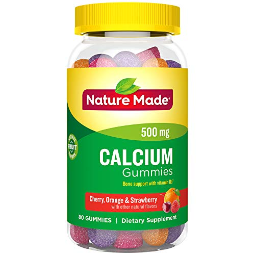 Nature Made® Calcium Gummies, 80 Count for Bone Health† (Packaging May Vary)