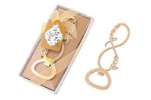 30 pcs Gold Tone Bottle Openers Wedding Favors Decorations, Gift Box, Bow Knot with Love, Party Favors Supplies