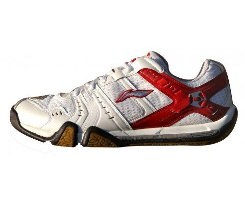 Li Ning - Zapatillas de bádminton de Material Sintético para hombre blanco blanco/rojo