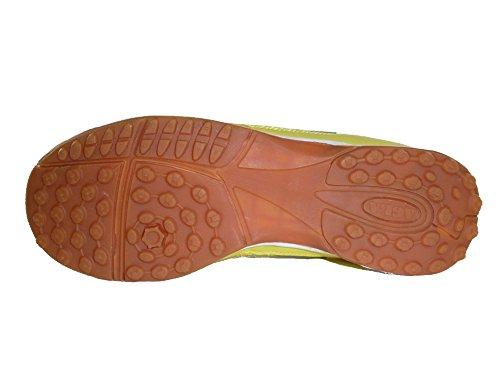 AGLA - Zapatillas de fútbol sala de Material Sintético para hombre Media Yellow/Silver