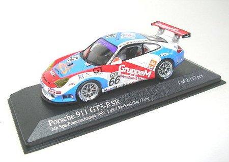 (Minichamps 400056466 Model Car Porsche 911 GT3 RSR 1000KMS SPA Francorchamps 2005 Lieb 1:43)