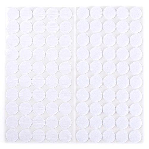 Self Adhesive Disk (Anladia Self Adhesive Strong Sticky Hook And Loop Discs Dots Spot Fasteners 50 pairs)