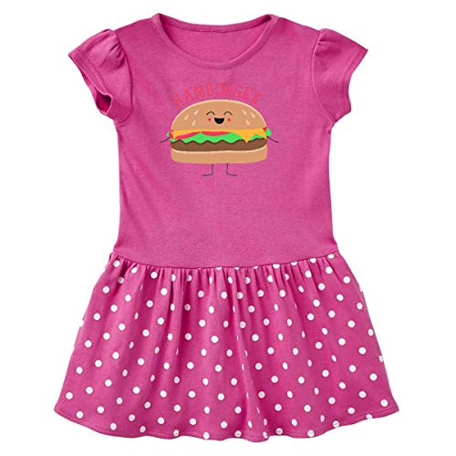inktastic - Hamburger Costume Toddler Dress 4T Raspberry with Polka Dots 31d0b ()