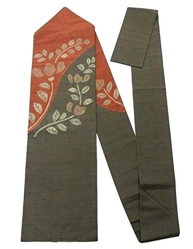 アクティビティ程度ガウンリサイクル 名古屋帯   紬 絞り染め 唐花模様  正絹