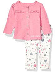 Calvin Klein Baby Girls 2 Pieces Cardigan Pants Set