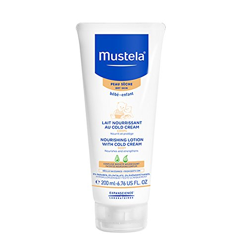 Mustela Nourishing Lotion with Cold Cream, Baby Lotion for Dry Skin, with Ceramides and Natural Avocado Perseose, 6.76 Ounce