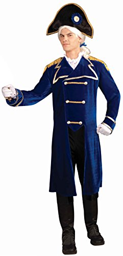 Forum Novelties Men's Patriotic Party Deluxe Admiral Costume, Multi, One Size (Easy Halloween Costumes Men)
