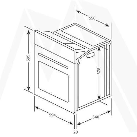 Bosch PKE611B17E vitrocerámica Interfaz + del Horno Color de ...