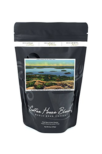Acadia National Park, ME - Cadillac Mt Summit View of Bar Harbor, Mt. Desert Island (8oz Whole Bean Small Batch Artisan Coffee - Bold & Strong Medium Dark Roast w/ - Harbor National Images