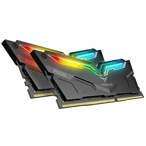 TEAMGROUP T-Force Night Hawk RGB 3200MHz 16GB Kit (2x8GB) CL16 DDR4 SDRAM (PC4-25600) Desktop Memory Module ram TF1D416G3200HC16CDC01 (Black)