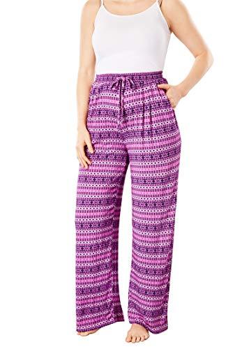 Dreams & Co. Womens Plus Size Sweet Dream Pajama Pants