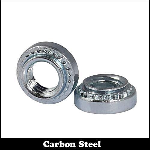 Size: S-M10-2, Color: 10Pcs Nuts M10 S-M10-1 2.3mm S-M10-2 3.2mm Zinc Plated Carbon Steel Slab Pressure Riveting Rivnut Spare Part Self-Clinching Nut