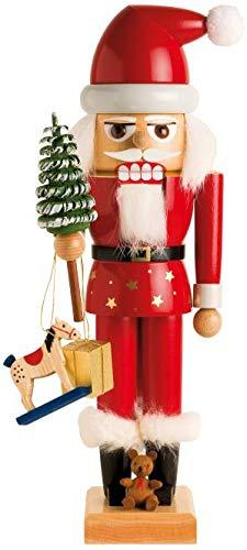 KWO Santa Claus German Christmas Nutcracker Handcrafted in Germany 11 inch New - Kwo German Nutcracker